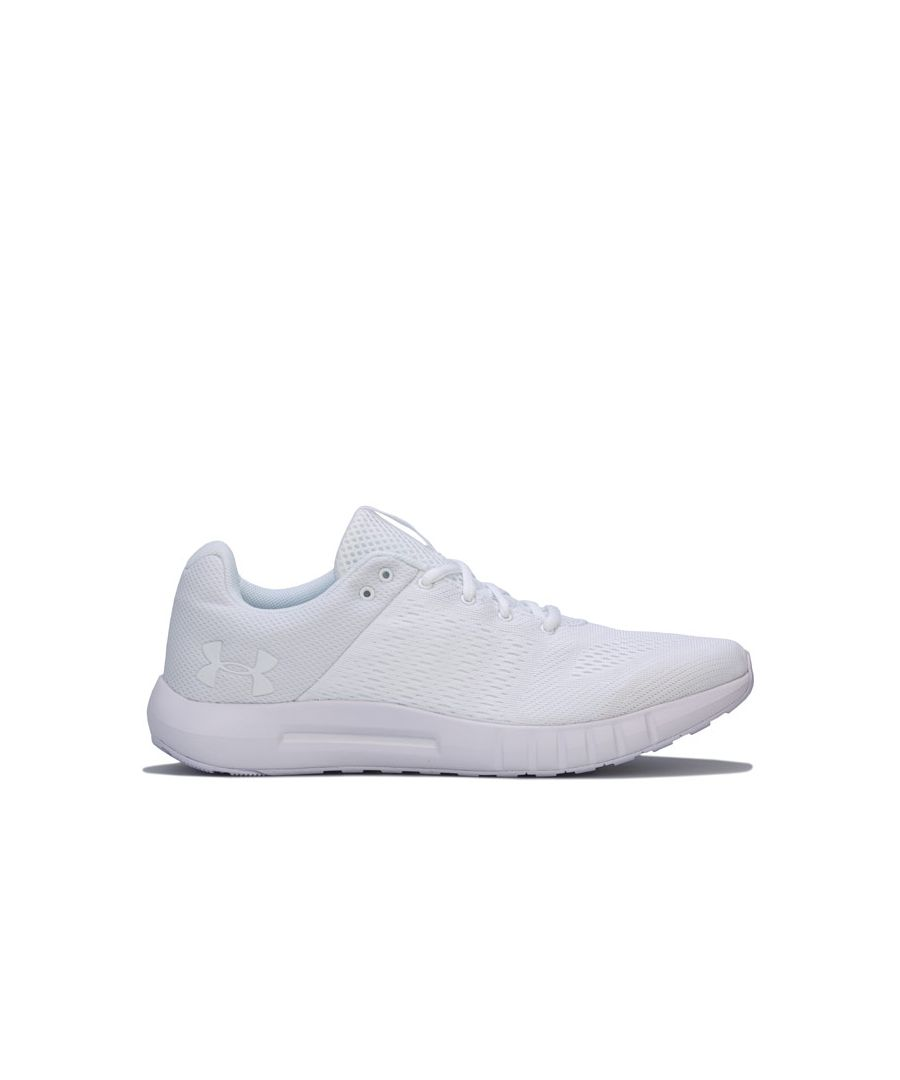 Image for Men's Under Armour Micro G Pursuit Trainers in White