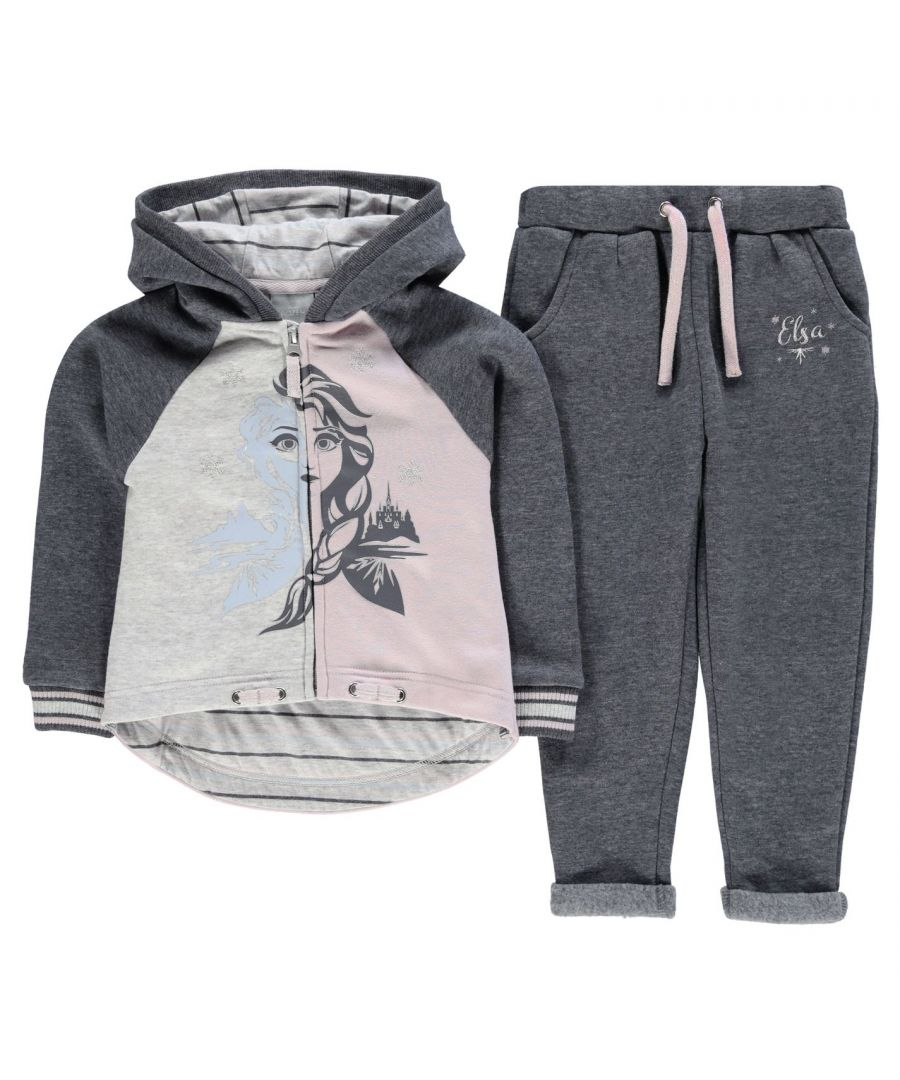 Image for Character Girls Jogging Set Infant Fleece Tracksuit Sports Casual Hooded Top
