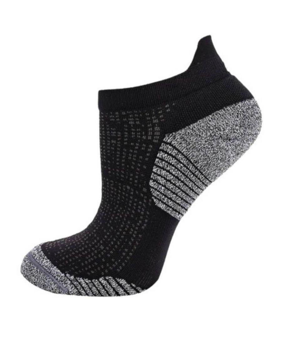 Image for Asics Ultra Lightweight Ankle Sock Black/Grey - UK 11-13