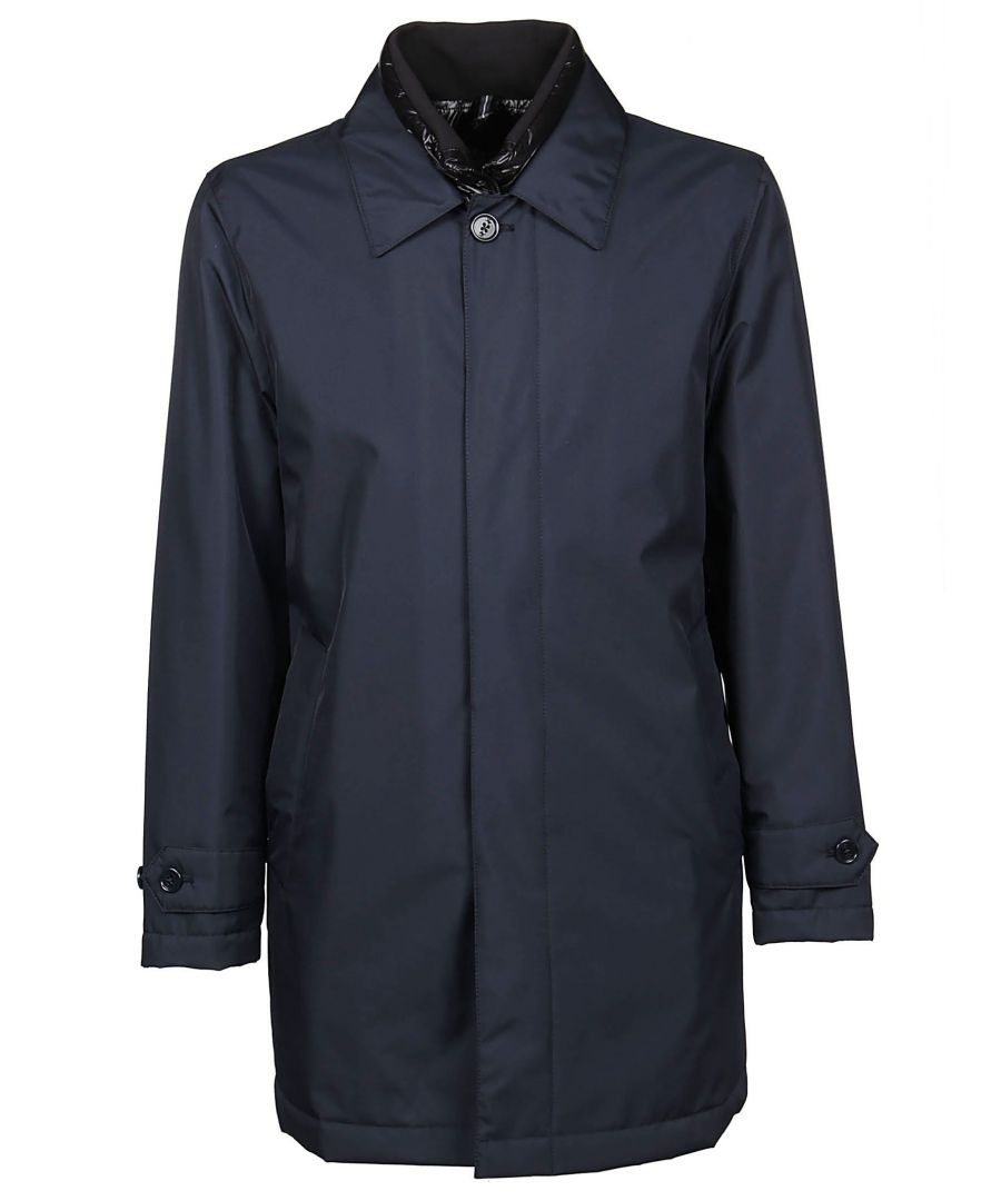 Image for FAY MEN'S NAM61390670QKJU808 BLUE POLYAMIDE COAT
