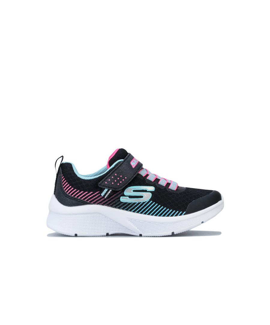 Image for Girl's Skechers Children Microspec Trainers in Black