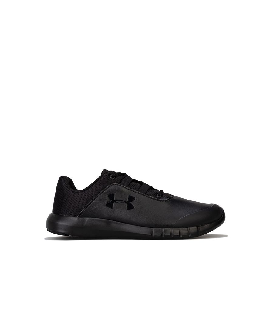Image for Boy's Under Armour Junior Mojo Trainers in Black