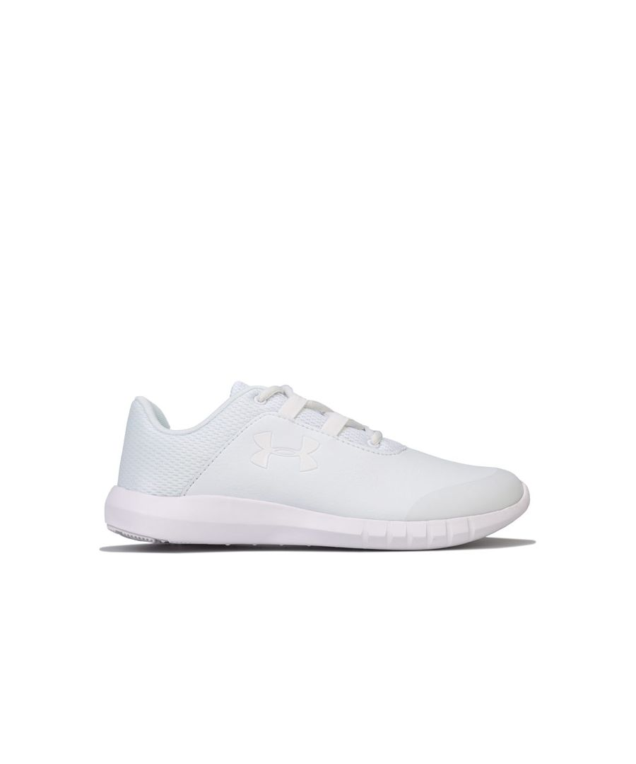 Image for Boy's Under Armour Junior Mojo Trainers in White