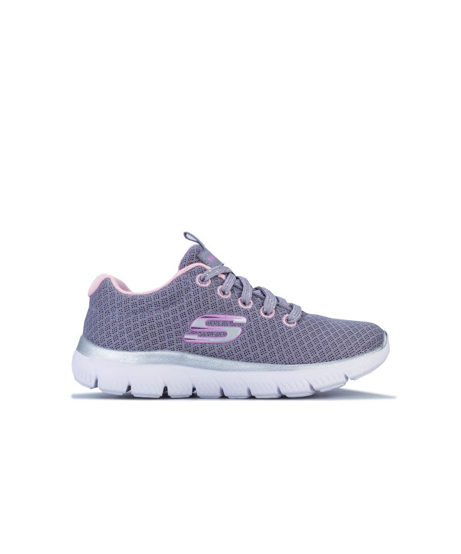 Image for Girl's Skechers Children Summits Simply Special Trainers in Grey pink