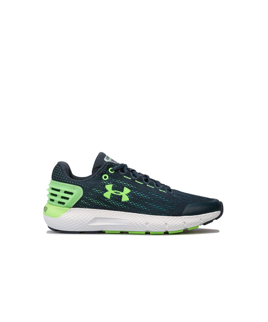Image for Boy's Under Armour Junior Charged Rogue Trainers in Green