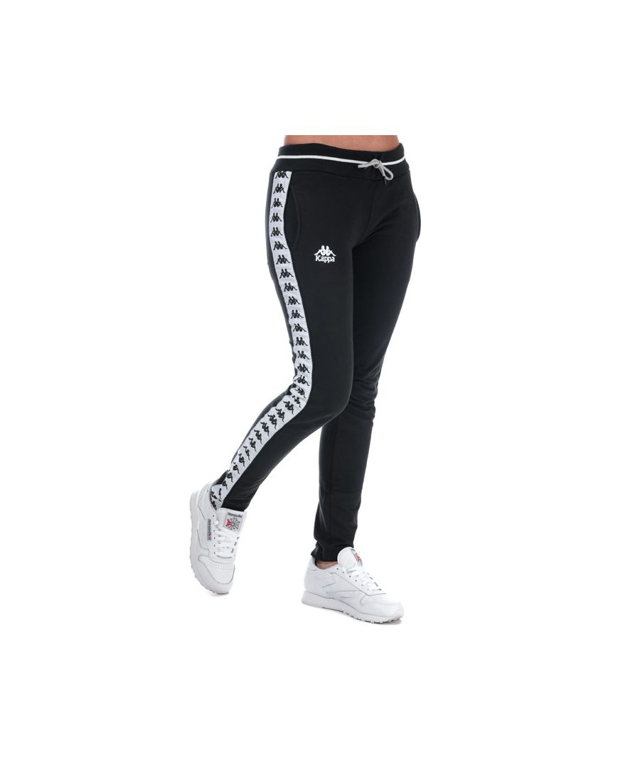 Image for Women's Kappa AFT Authentic Track Pants in Black-White