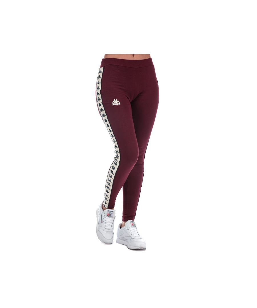 Image for Women's Kappa Anen Authentic Leggings in Burgundy