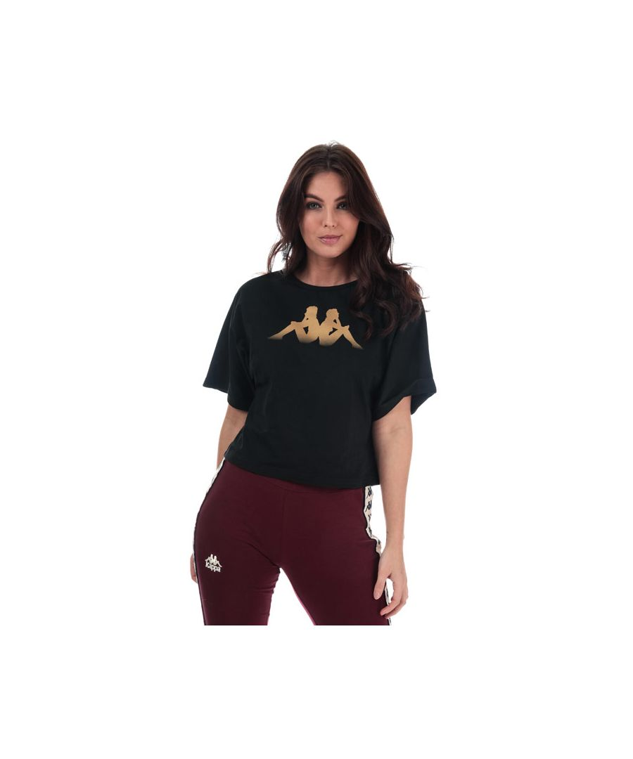 Image for Women's Kappa Afun T-Shirt in Black