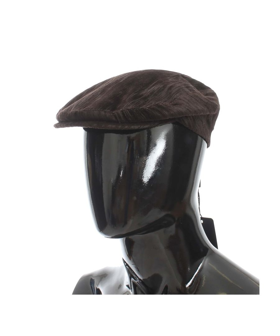 Image for Dolce & Gabbana Brown Cotton Newsboy Hat