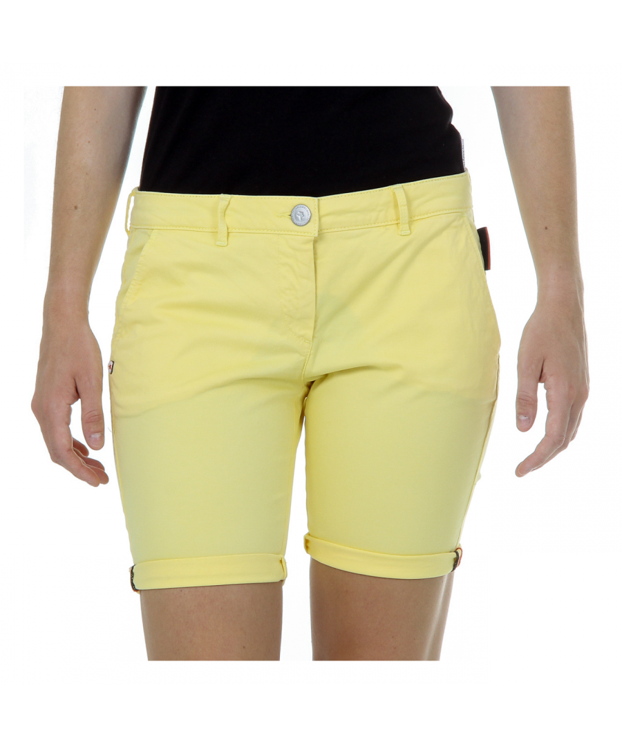 Image for Andrew Charles Womens Shorts Yellow SAFIA