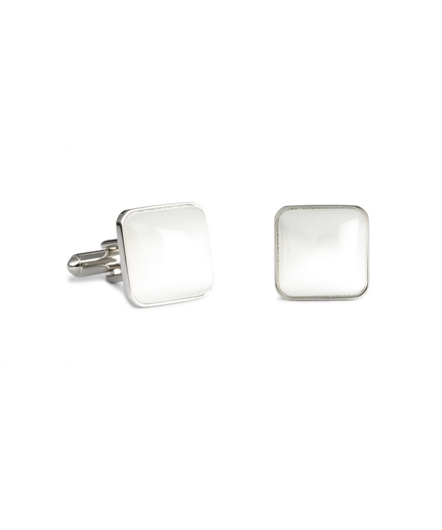 Image for White Catseye Spangle Cufflinks