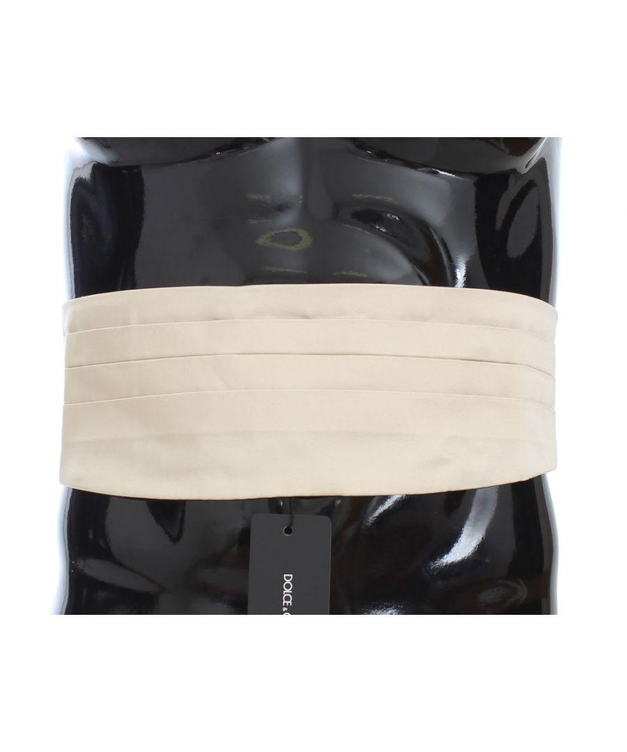 Image for Dolce & Gabbana Off White Belt Silk Cummerbund