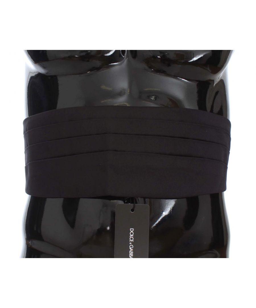 Image for Dolce & Gabbana Black Wide Belt Silk Cummerbund