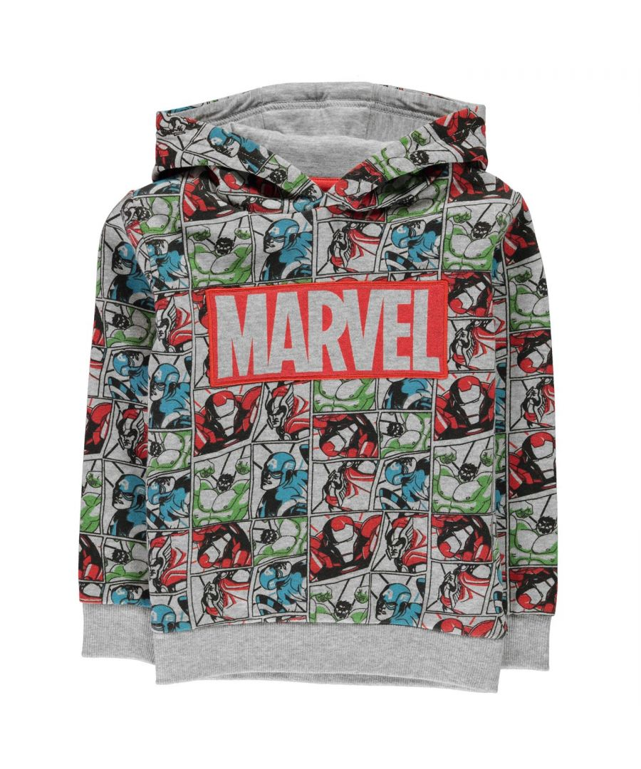 Image for Character Boys OTH Hoodie Hooded Long Sleeves Avangers Printed Casual Soft Top