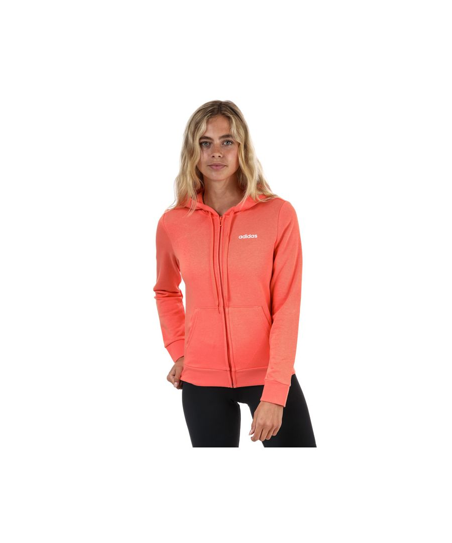 Image for Women's adidas Essentials Solid Zip Hoodie in Coral