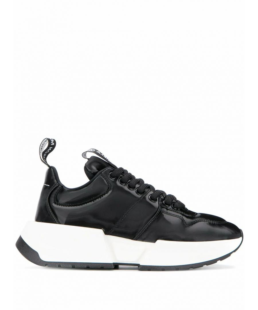 Image for MAISON MARGIELA WOMEN'S S66WS0004P3024T8013 BLACK LEATHER SNEAKERS