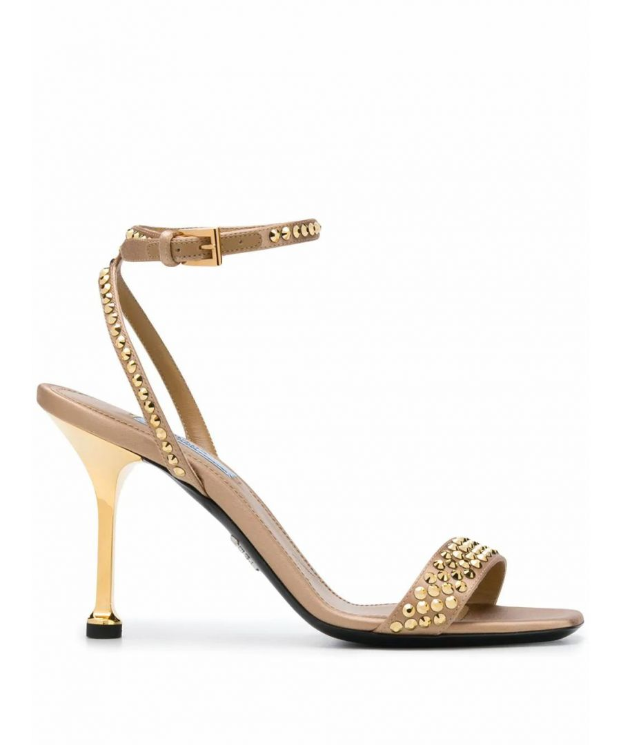 Image for PRADA WOMEN'S 1X978LF0902AWLF0056 GOLD LEATHER SANDALS