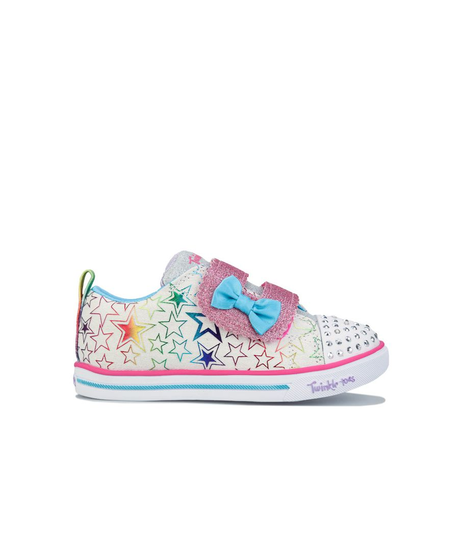 Image for Girl's Skechers Infant Sparkle So Bright Trainers in White
