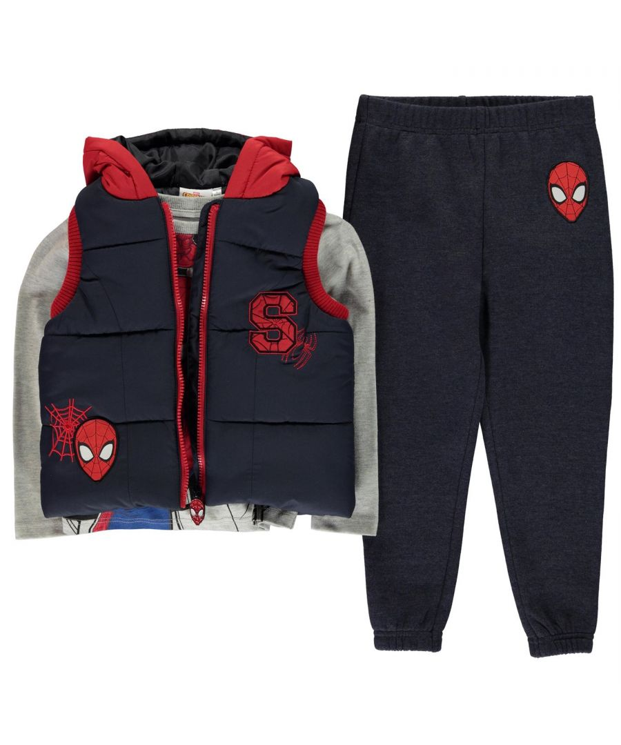 Image for Character Boys Kids Gilet Set Full Zip Hooded T-Shirt Joggers Sports Lightweight
