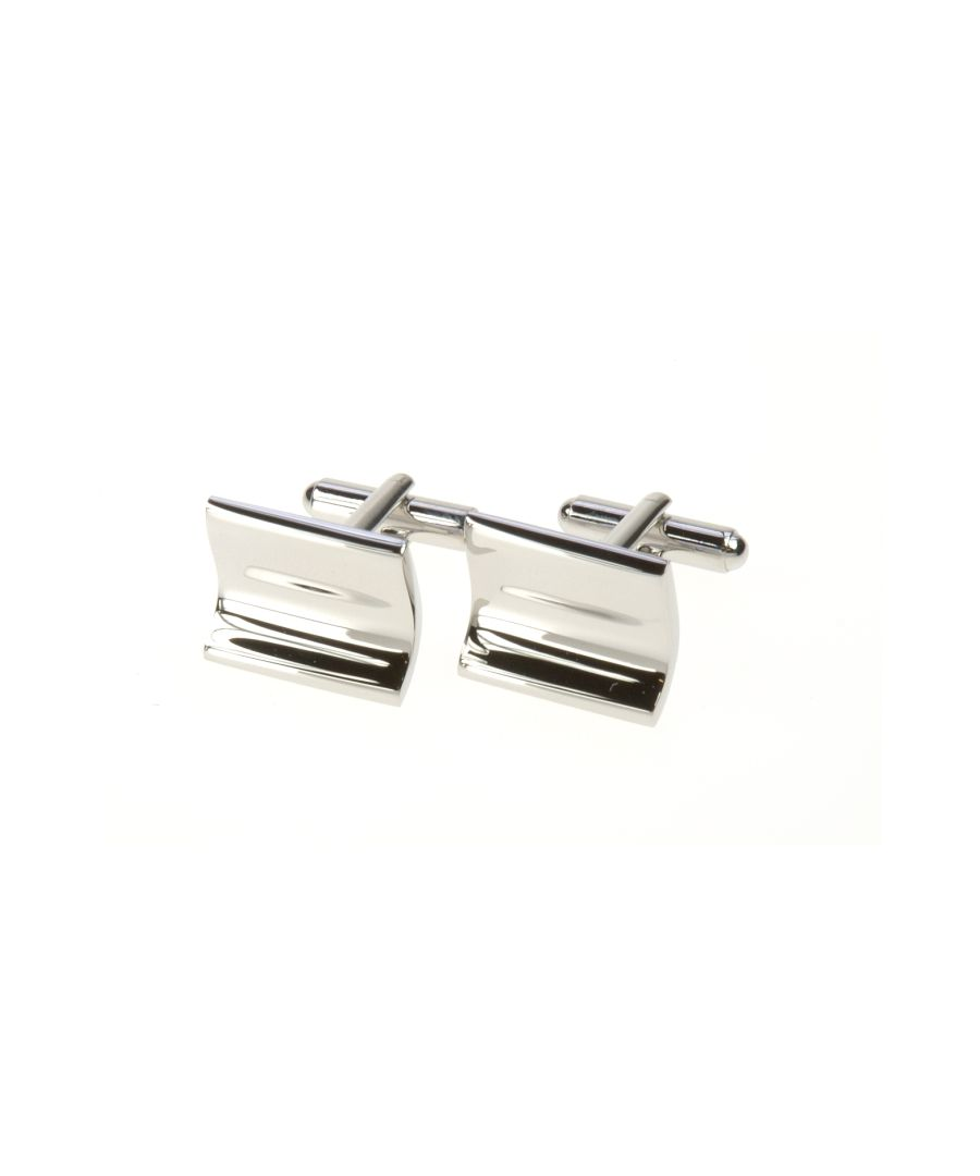 Image for Warped Rectangle Cufflinks