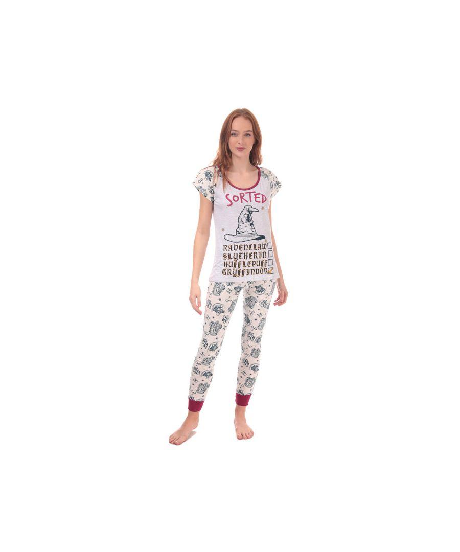 Image for Women's Warner Bros Harry Potter Pyjamas in Grey Marl