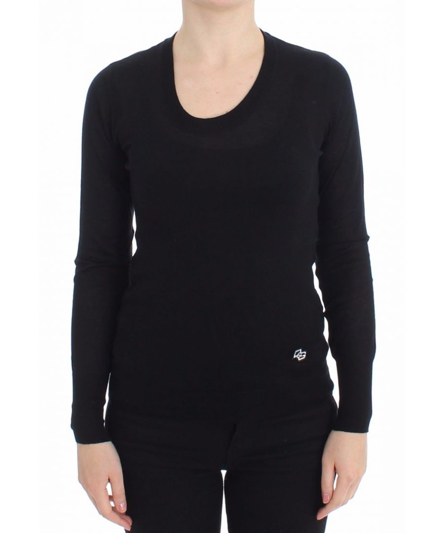Image for Dolce & Gabbana Black Crewneck Sweater Pullover Top