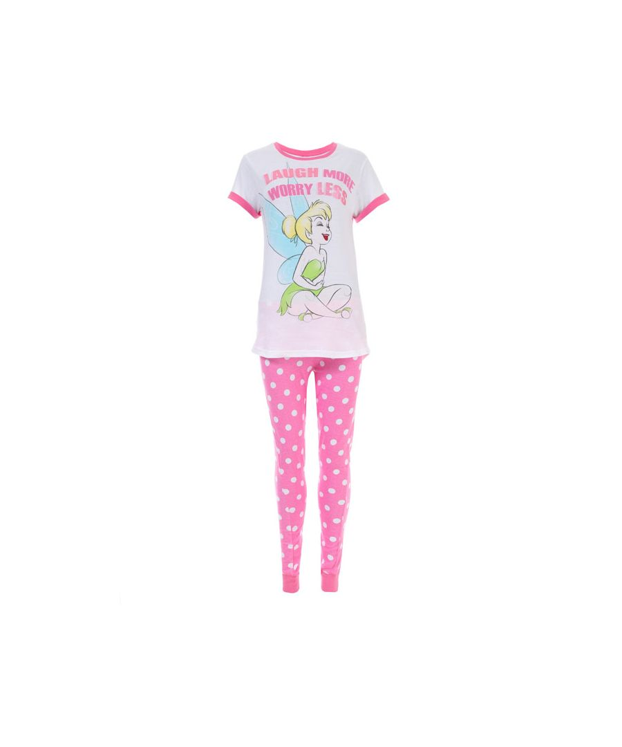 Image for Women's Disney Tinkerbell Pyjamas in Pink white