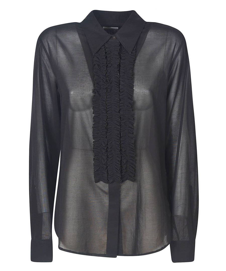 Image for DRIES VAN NOTEN WOMEN'S 186419333900 BLACK POLYESTER BLOUSE