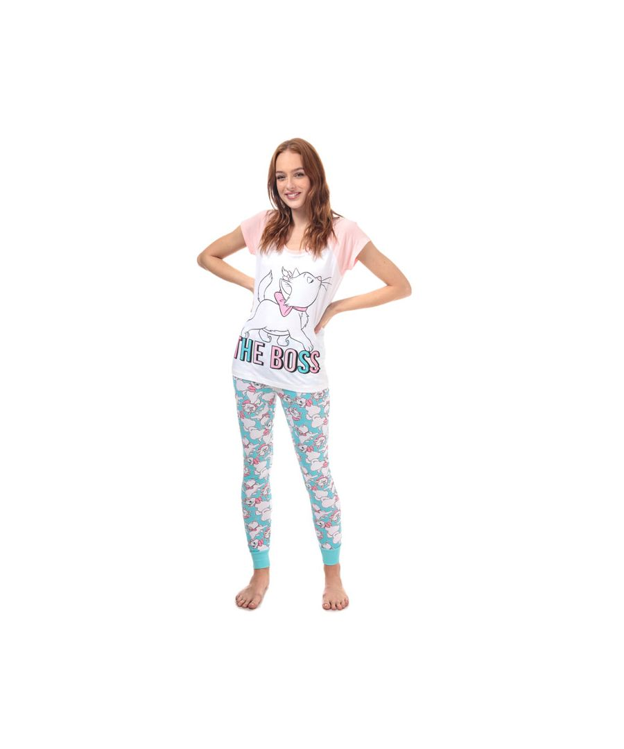 Image for Women's Disney Aristocats Pyjamas in White pink