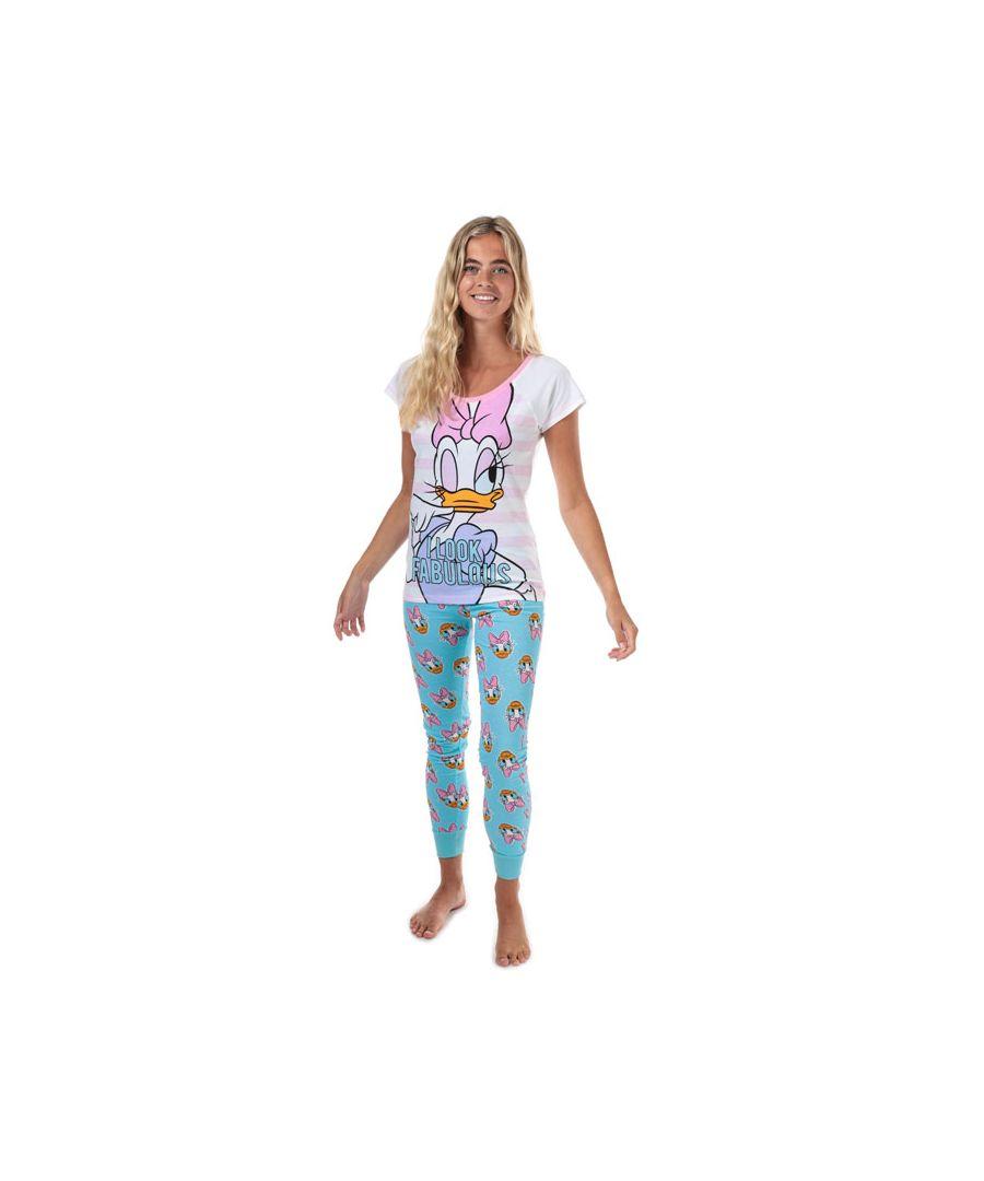 Image for Women's Disney Daisy Duck Pyjamas in White blue
