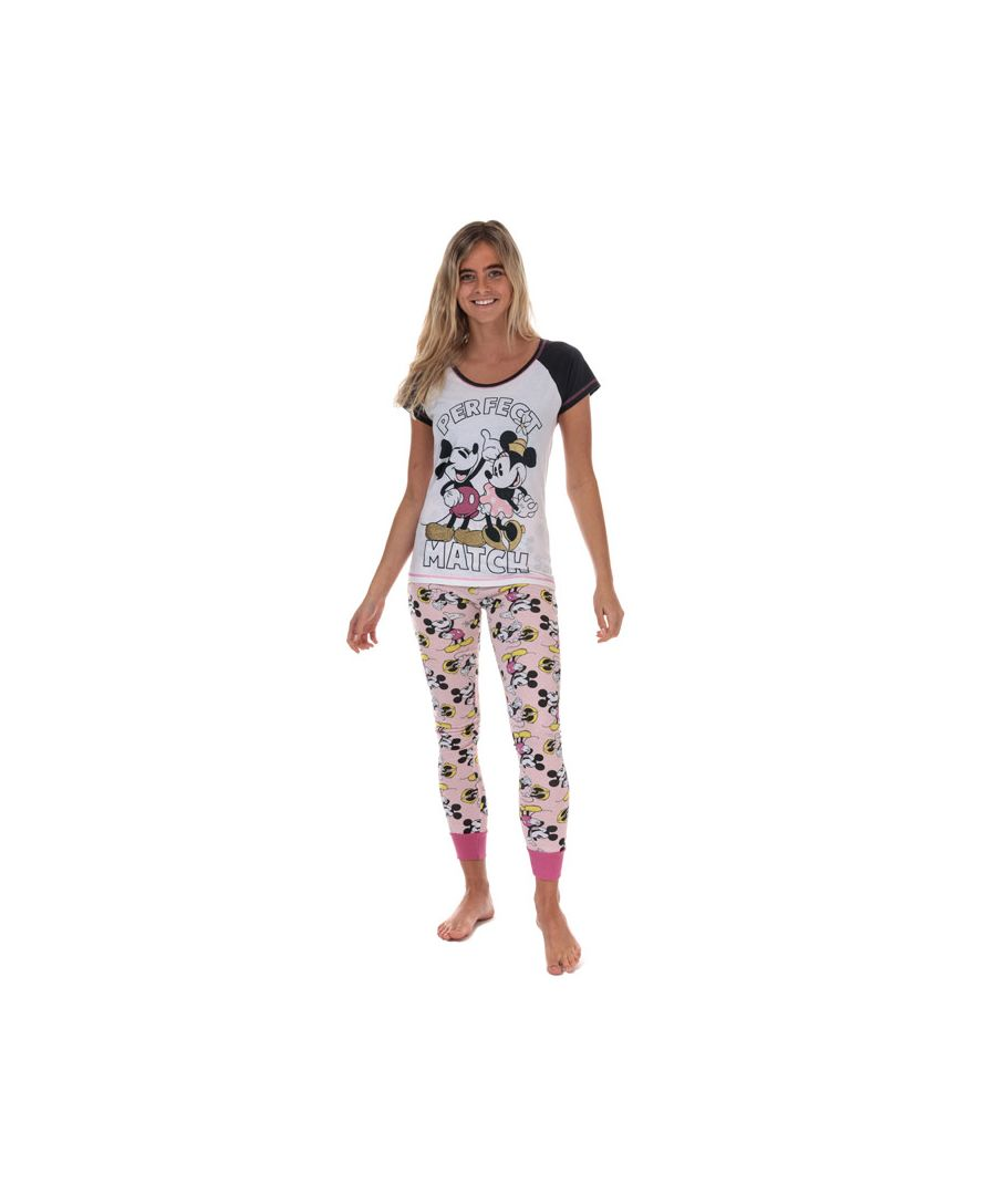 Image for Women's Disney Minnie and Mickey Pyjamas in White