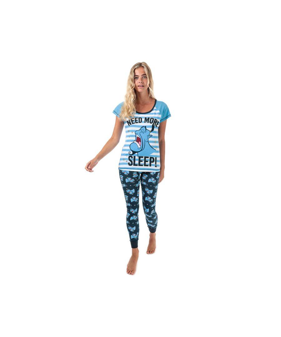 Image for Women's Disney Aladdin Genie Pyjamas in Blue-White