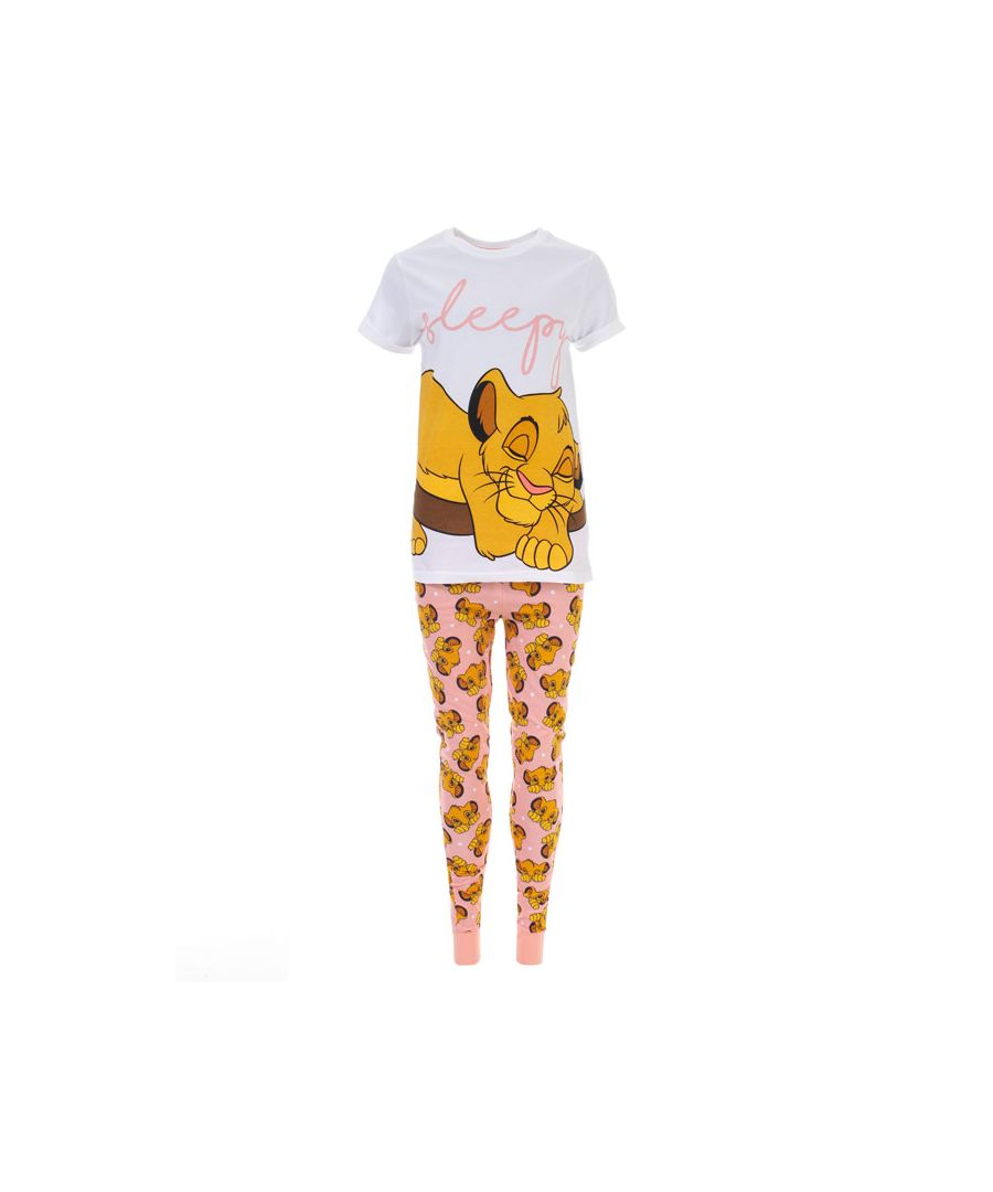 Image for Women's Disney Lion King Simba Pyjamas in White