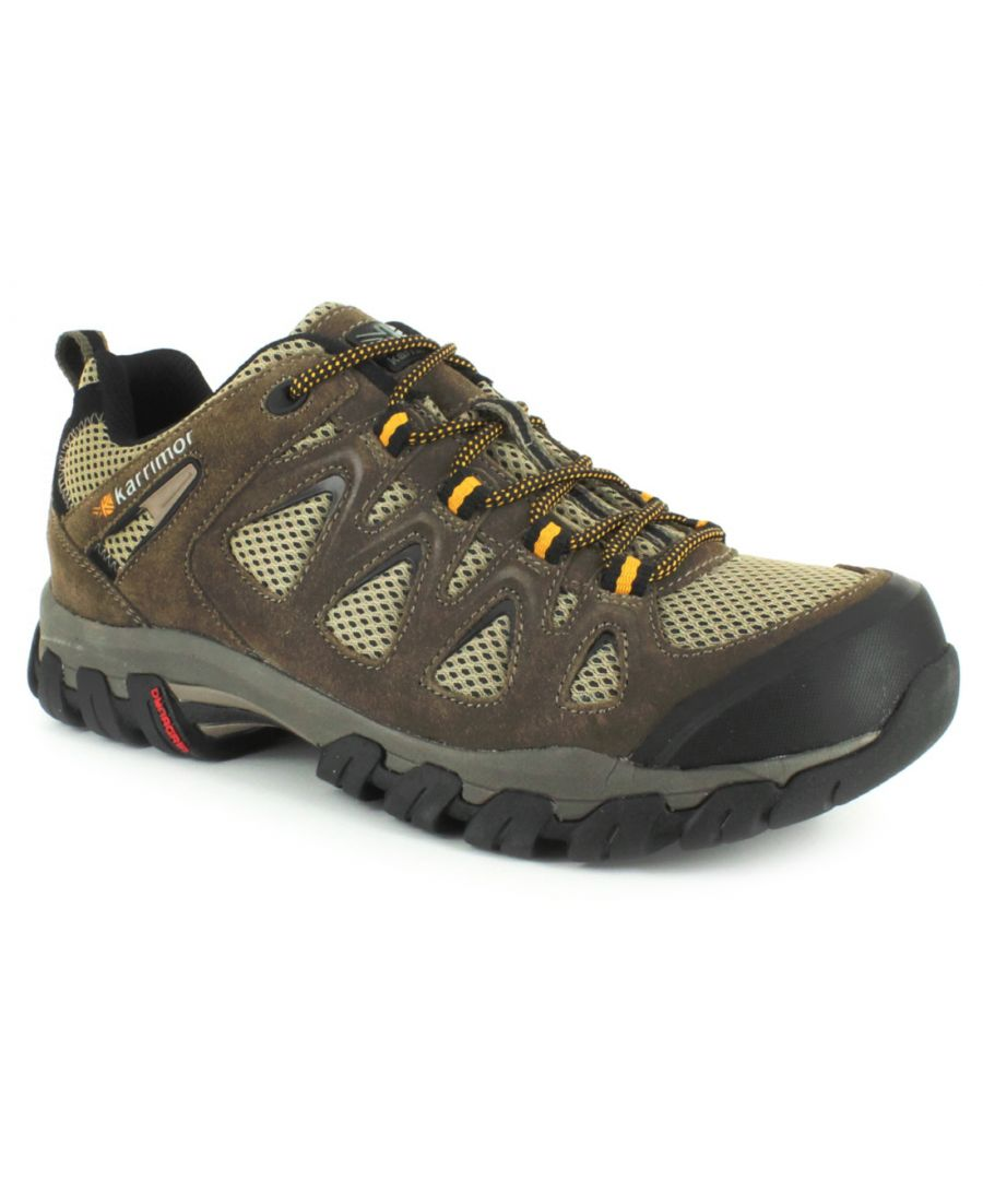 Image for New Mens/Gents Taupe Karrimor Aerator Lace Ups Hiking Boots