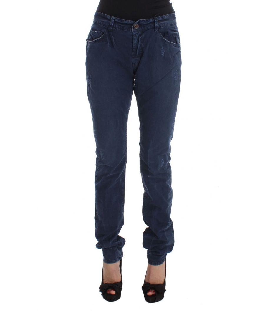 Image for Costume National Blue Cotton Blend Denim Jeans