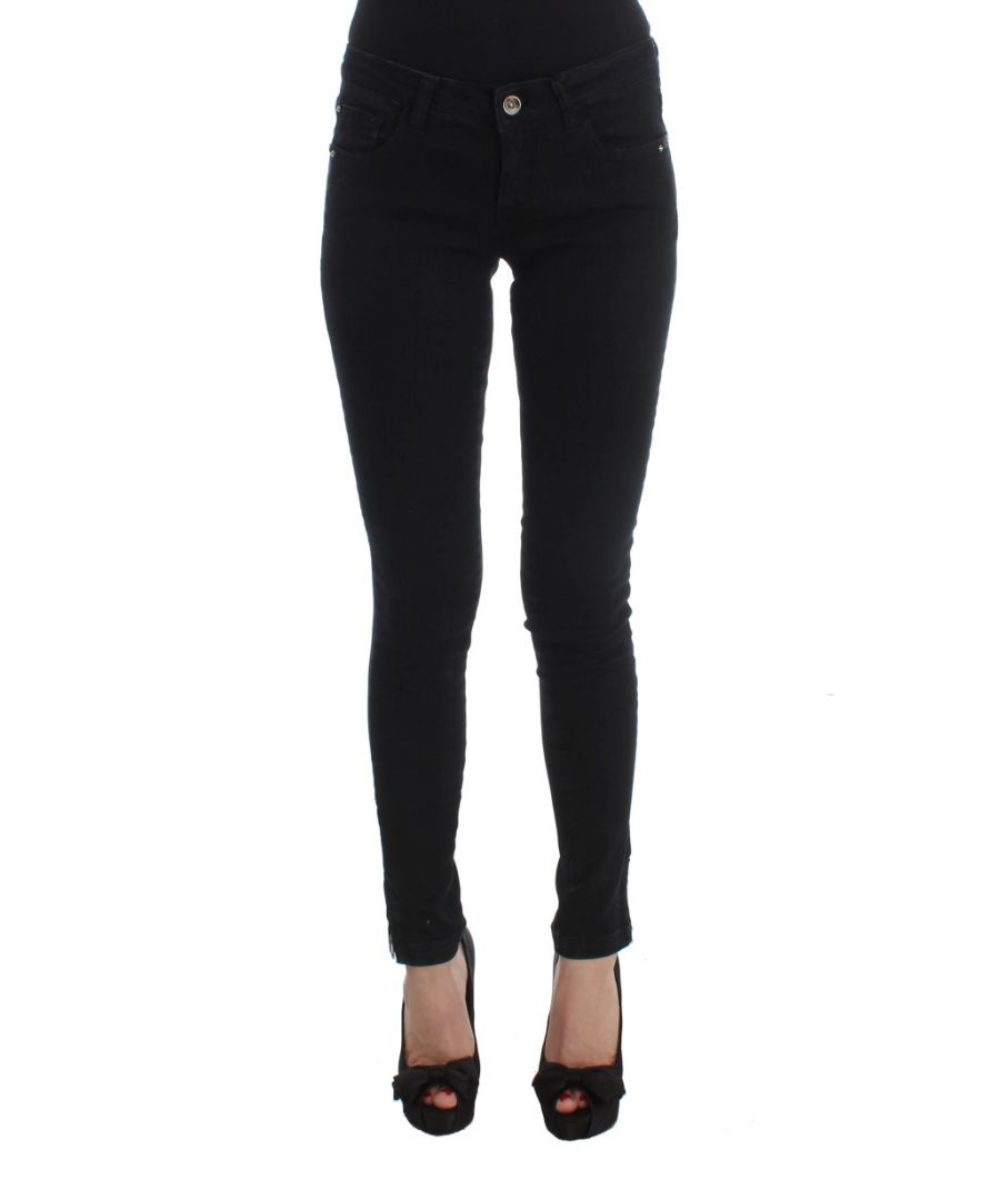 Image for Costume National Black Cotton Slim Fit Denim Jeans