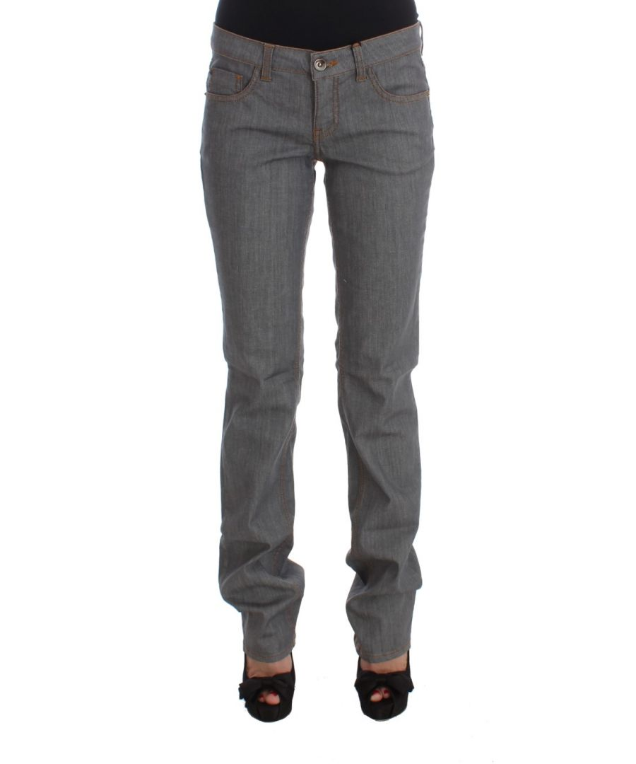 Image for Costume National Gray Cotton Regular Fit Denim Jeans