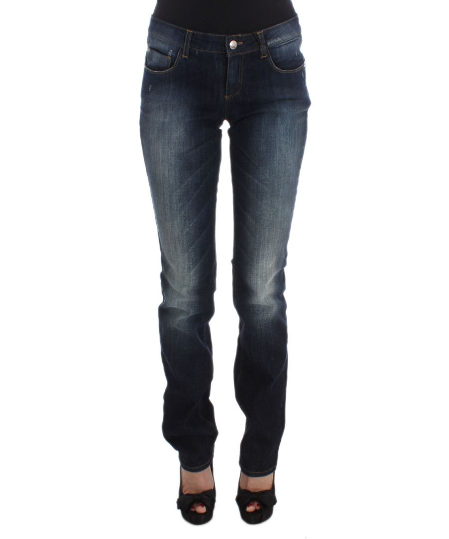 Image for Costume National Blue Cotton Slim Fit Bootcut Jeans