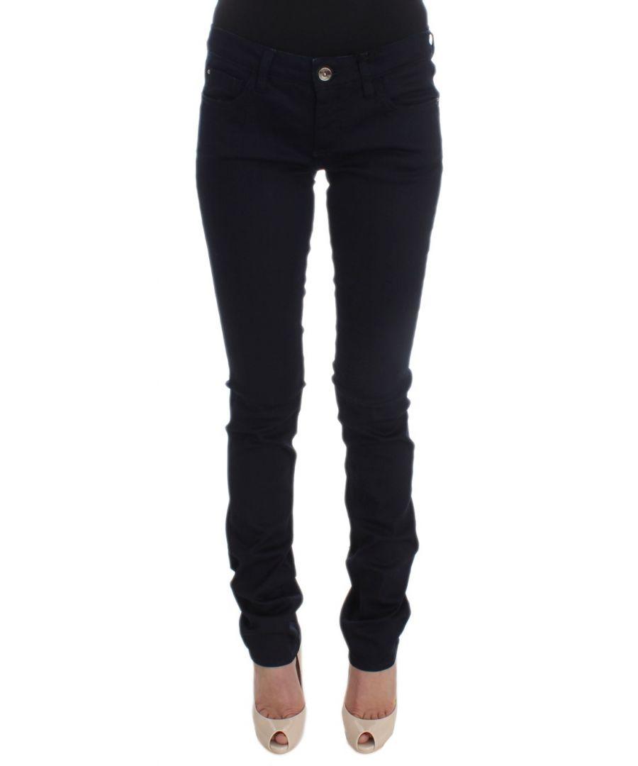 Image for Costume National Blue Cotton Blend Slim Fit Jeans