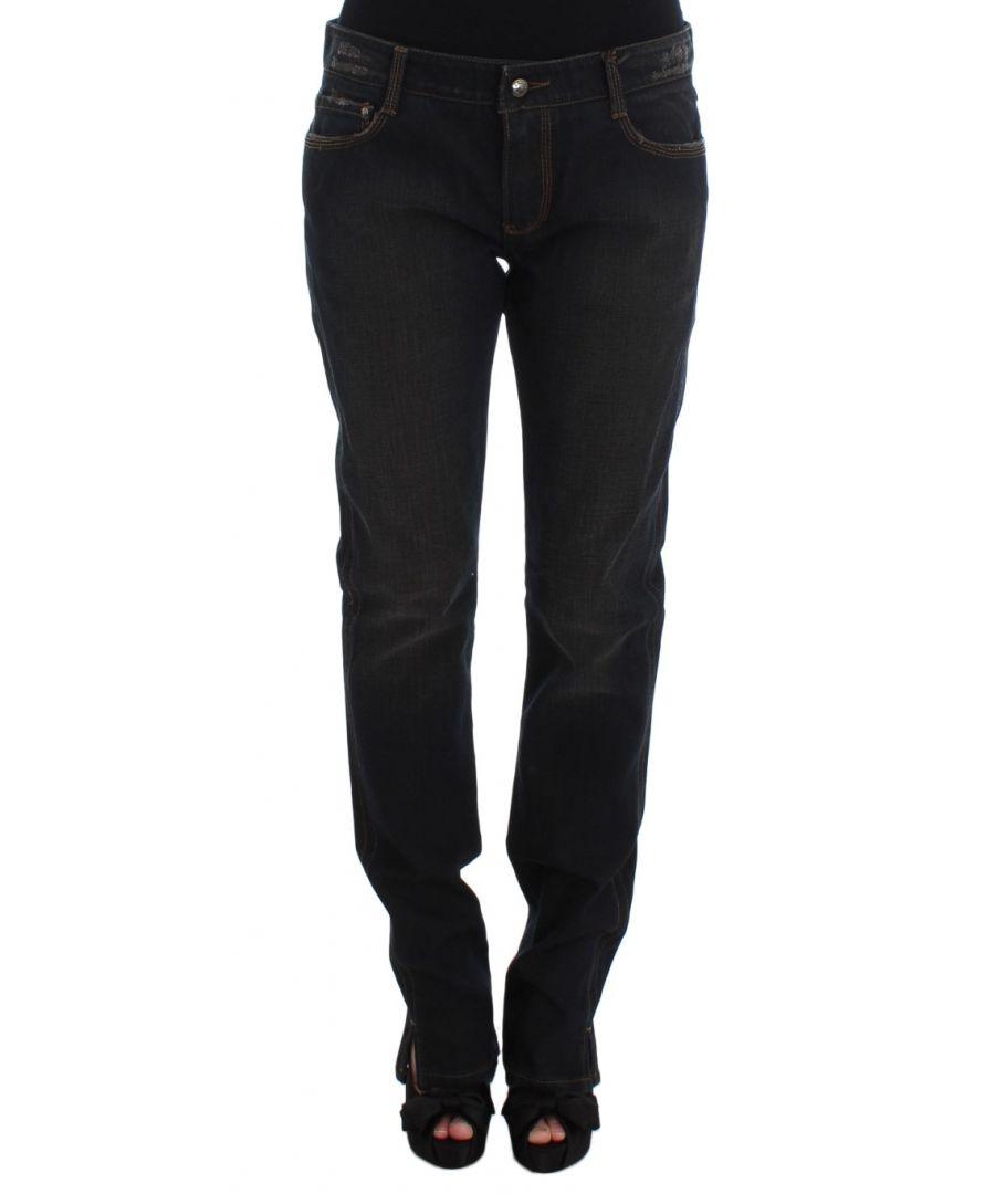 Image for Ermanno Scervino Blue Wash Cotton Boyfriend Jeans