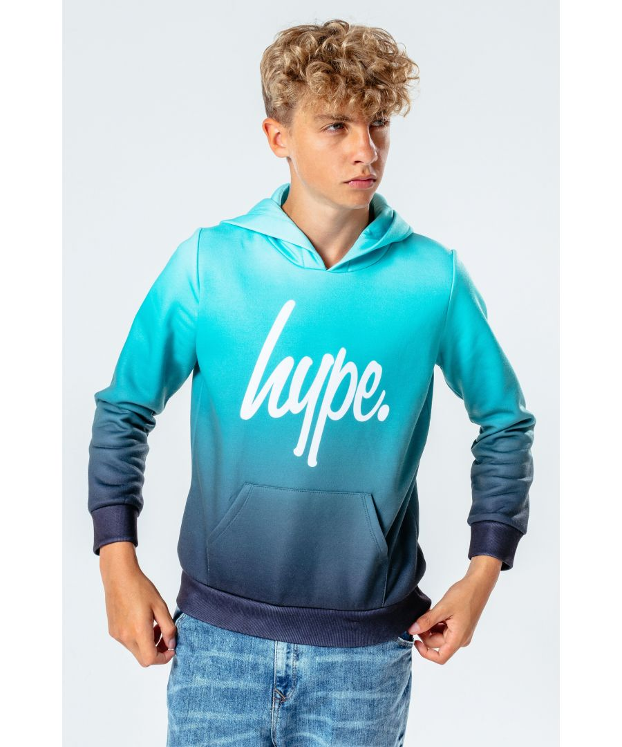 Image for Hype Teal & Black Fade Kids Pullover Hoodie
