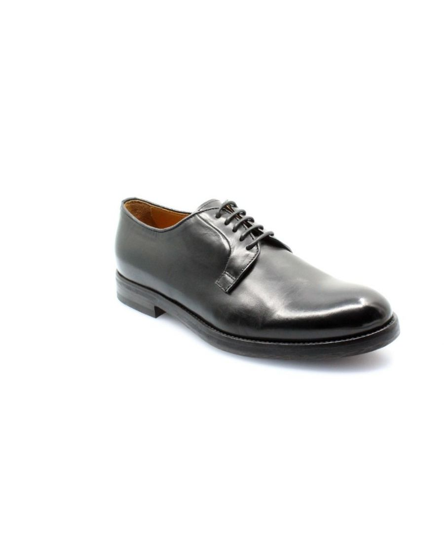 Image for DOUCAL'S MEN'S DU1932COIBUF010NN00 BLACK LEATHER LACE-UP SHOES