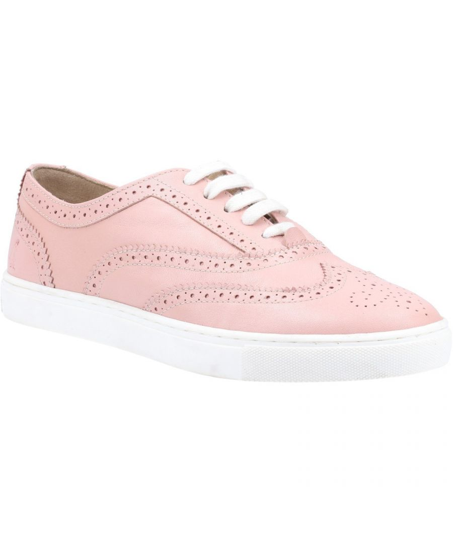 Image for Hush Puppies Women's Tammy Leather Brogues (Light Pink)