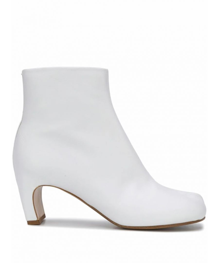 Image for MAISON MARGIELA WOMEN'S S39WU0147PR516T1003 WHITE LEATHER ANKLE BOOTS