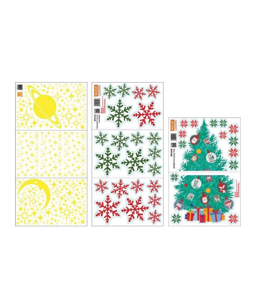 Image for C3W0008 - Glow Stars and Colorful Snowflakes with Christmas Friend Tree - WS3036 + WS2308 + WS3326