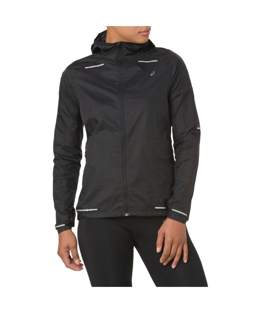 Image for Asics Womens Lite Show Jacket Long Sleeve Sports Training Top Outerwear