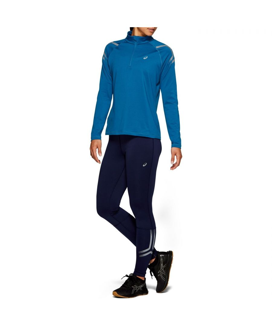 Image for Asics Womens Icon Winter Half Zip Jumper Long Sleeve Sports Training Top