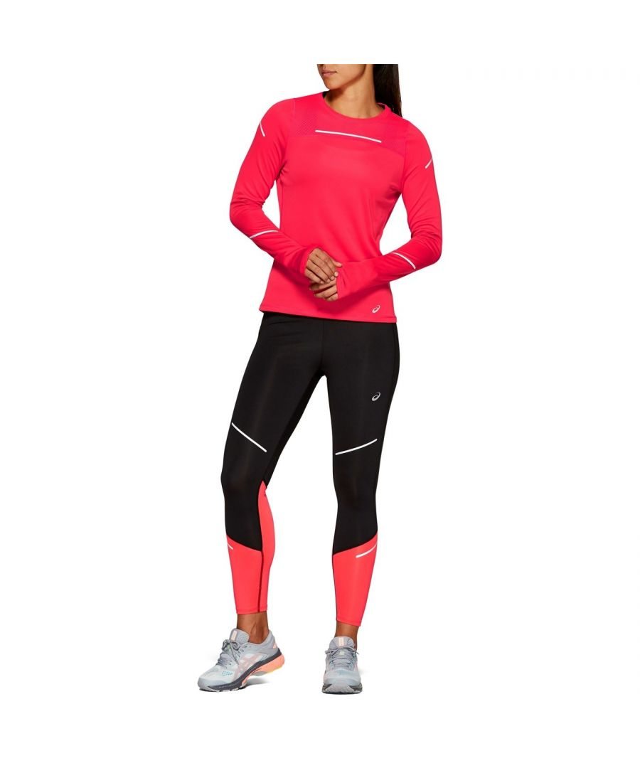 Image for Asics Womens Lite Show 2 Long Sleeve Crew Neck Sports Training Top