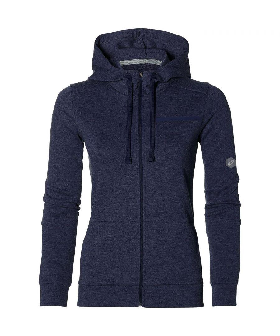 Image for Asics Womens Tailored Full Zip Hoodie Long Sleeve Hoody Top
