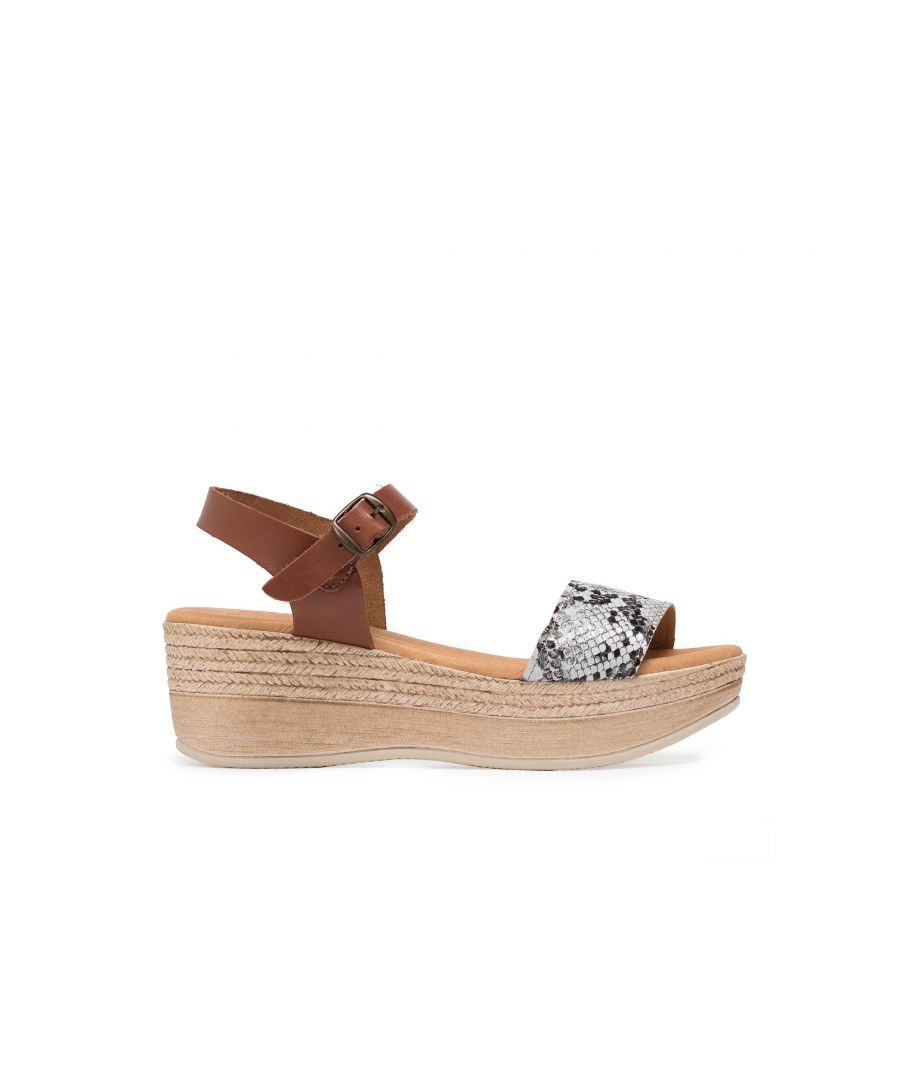 Image for Eva Lopez Wedge Sandals Snake Women Summer Shoes